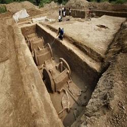 В Китае были найдены колесницы возрастом около 3 тысяч лет