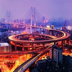 В Китае построена автострада через реку в округе Хингшан